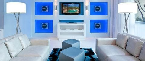 Pool Villa Suite (Blue & White) Room At Hard Rock Hotel and Casino