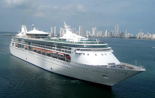 Grandeur of the Seas Ship At Royal Caribbean
