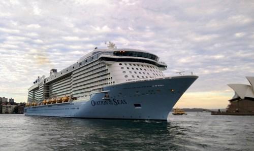 Ovation of the Seas Ship At Royal Caribbean