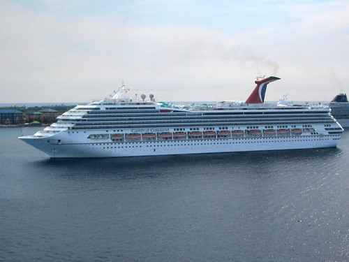 Carnival Conquest Ship At Carnival Cruise Lines