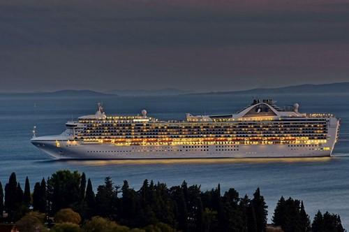 Grand Princess Ship At Princess Cruises