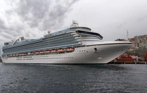 Ruby Princess Ship At Princess Cruises