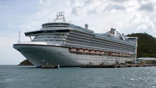 Caribbean Princess Ship At Princess Cruises