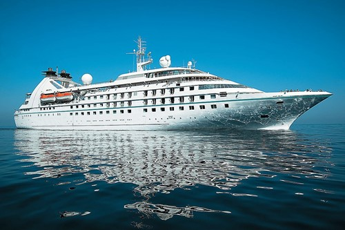 Seabourn Pride Ship At Seabourn Cruise Line