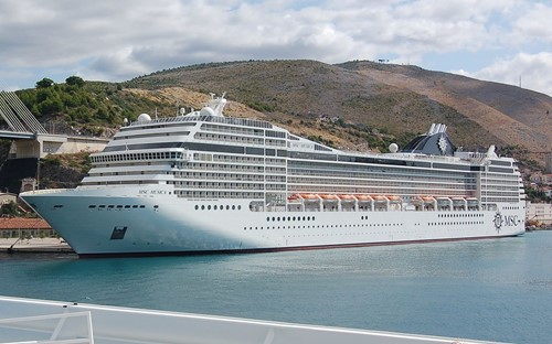 MSC Musica Ship At MSC Cruises