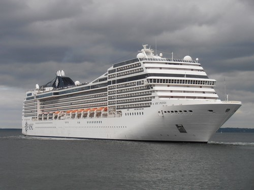 MSC Poesia Ship At MSC Cruises