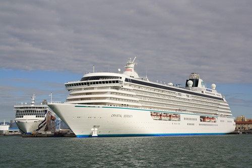 Crystal Serenity Ship At Crystal Cruises