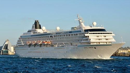 Crystal Symphony Ship At Crystal Cruises