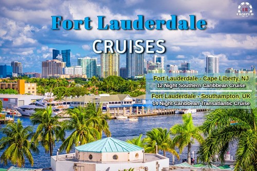 12 and 14 Night Caribbean Sailing from Fort Lauderdale!