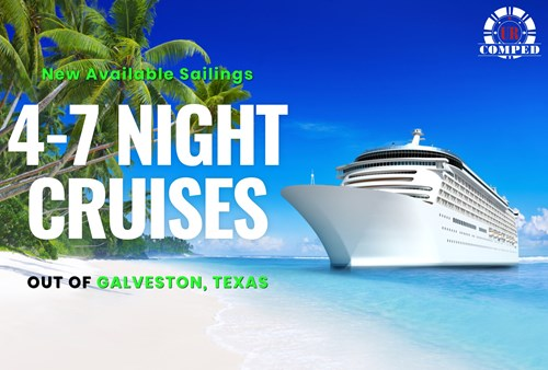 New Sailings out of Galveston, Texas!