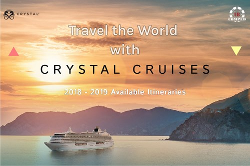 August Cruise Offers with Crystal Cruises 2018 - 2019 Sailings!