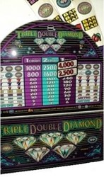 Blk Wdw/ Triple Double Diamond slot machine