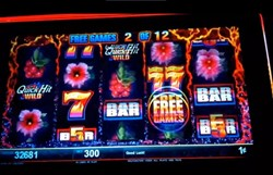 Quick Hit Volcano slot machine