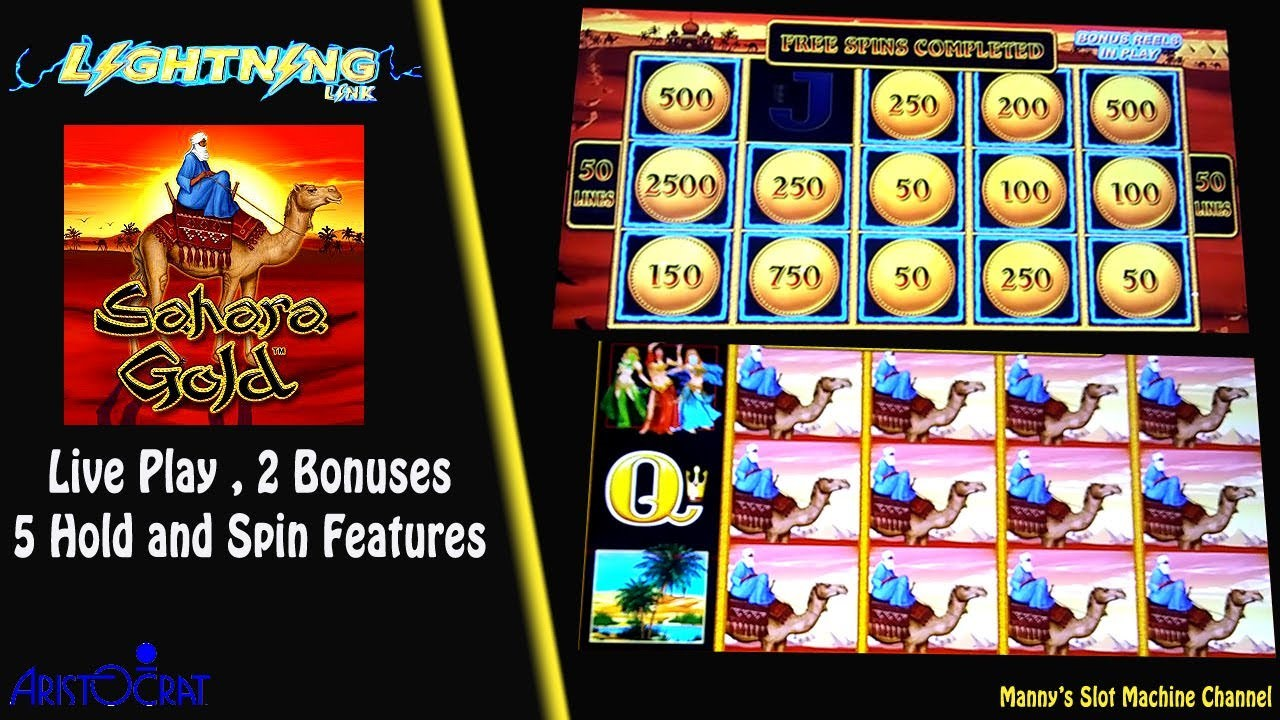 Sahara Gold - Lightning Link Slot Machine by Aristocrat