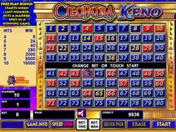 Cleopatra Keno slot machine