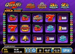 Quick Hit Platinum Black Gold slot machine